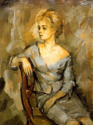 Рикардо Макаррон. Сидящая женщина
