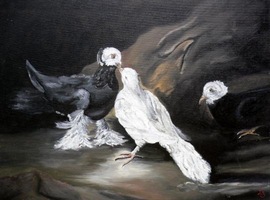Sergei Nikolayevich Khodorenko-Zatonsky. Pigeons