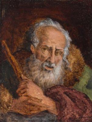 Карл Шпицвег. Портрет старика с бородой