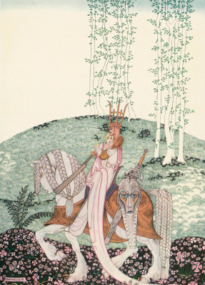 """Kay Nielsen. Illustration of the collection of fairy tales """"East of the sun West of the moon"""""""