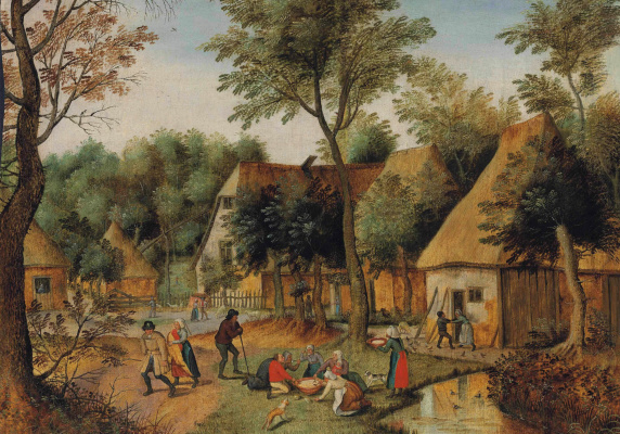 Peter Brueghel The Younger. Peasant lunch on the grass