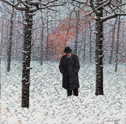 Марк Эдвардс. A man in a burning winter forest