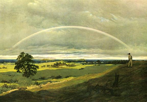 Caspar David Friedrich. Rainbow Landscape