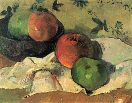 Paul Gauguin. Apples in a bowl