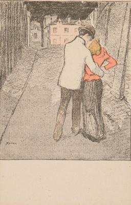 Theophile-Alexander Steinlen. Love walk