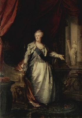 Иоганн Баптист Лампи (старший). Портрет императрицы Екатерины II