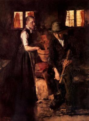 Вильгельм Мария Хубертус Лейбль. На кухне