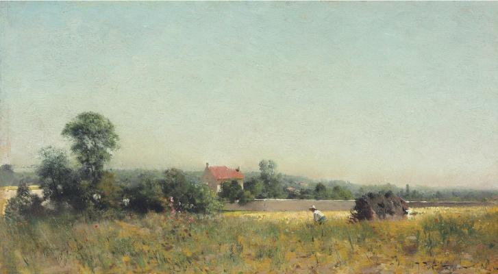 Иван Павлович Похитонов. In the fields. France