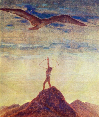 "Mikalojus Konstantinas Ciurlionis. From the series ""Zodiac Signs"". Sagittarius"