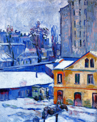 David Davidovich Burliuk. In the city