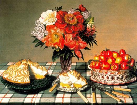 Цветы и пирог
