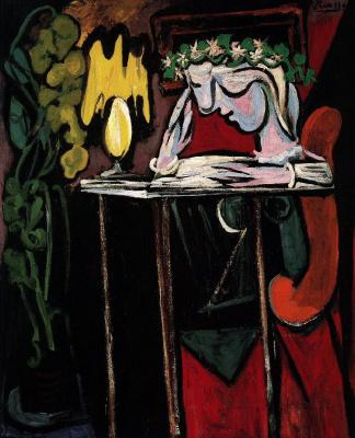Пабло Пикассо. Девушка, пишущая за столом. Мария-Тереза Вальтер