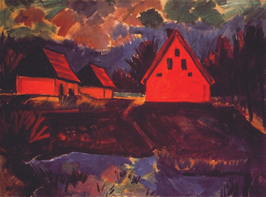 Max Pehshtein. Red house