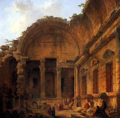 Hubert Robert. The Interior Of The Temple Of Diana