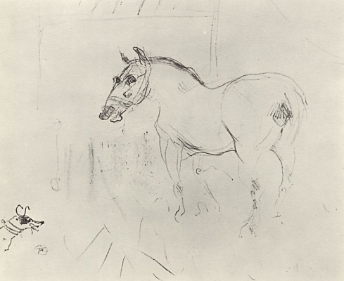 Henri de Toulouse-Lautrec. Little pony and the dog