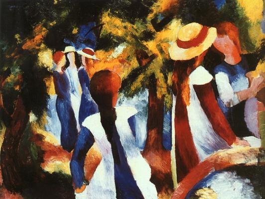 August Macke. Girls in hats