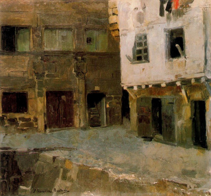 Joaquin Sorolla (Soroya). The house of Victor Hugo in Pasajes