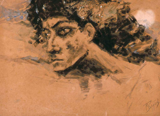 Mikhail Vrubel. The Demon's Head