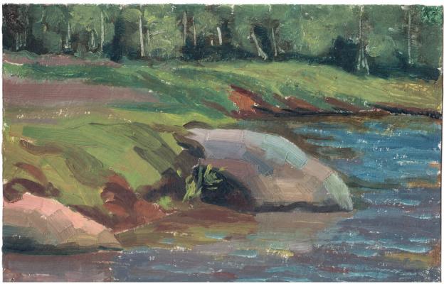 Arkady Pavlovich Laptev. The banks of the river Severka