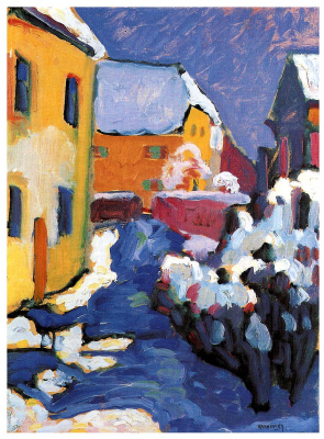 Wassily Kandinsky. Cemetery and Vicarage in Kochel