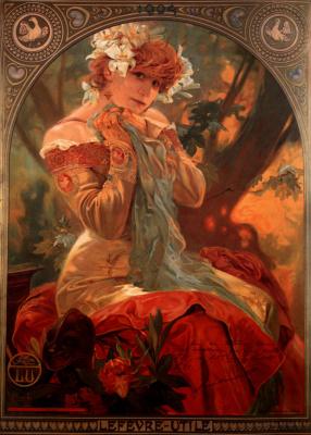 "Alphonse Mucha. ""Lepers utile"". Sarah Bernhardt"