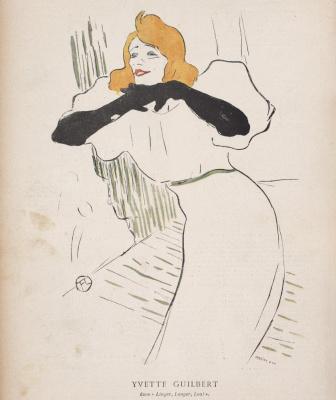 Анри де Тулуз-Лотрек. Иветта Гильбер, иллюстрация из Le Rire 22 декабря 1894 года