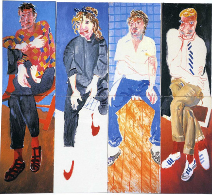 David Hockney. David, Celia, Stephen and Ian, August 1982