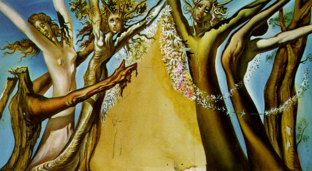"Salvador Dali. A sketch of the scenery for the ballet ""Mad Tristan"""