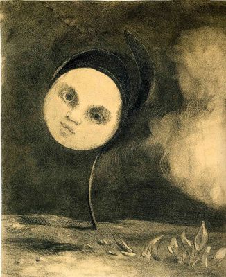 Odilon Redon. Strange flower (Little sister of the poor)