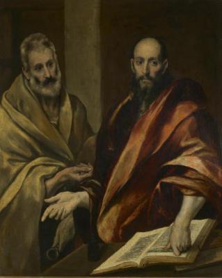 Domenico Theotokopoulos (El Greco). The apostles Peter and Paul
