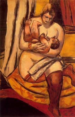 Max Beckmann. Nursing mother