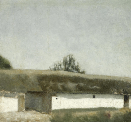 Vilhelm Hammershøi. Farm landscape