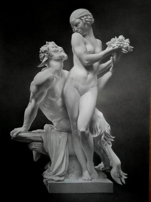 Sergei Hinz. Nymph and Satyr