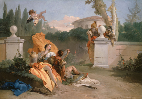 Джованни Баттиста Тьеполо. Ubaldo and Carlo, catching Rinaldo and Armida