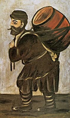 Нико Пиросмани (Пиросманашвили). Муша с бочонком. Правая часть диптиха