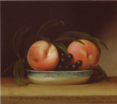 Raphaelle Peale. Grapes and peaches