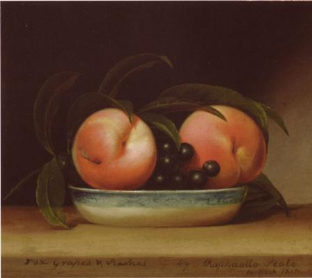 Рафаэль Пил. Виноград и персики