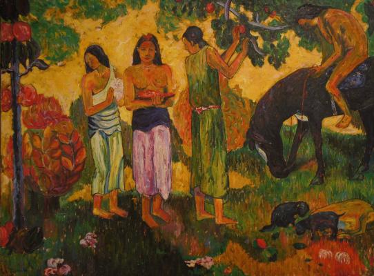 Неизвестный  художник. Три девушки (Гоген)