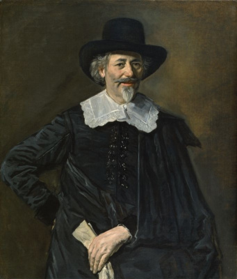 Frans Hals. Portrait of a man with a glove in his hand