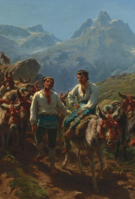 Rose Bonhur. Spanish shepherds crossing of the Pyrenees. Fragment III