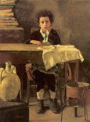 Антонио Манчини. Задумчивый мальчик