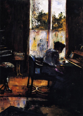 Lesser Ury. The woman at the Desk