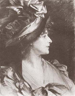 John Singer Sargent. Gertrude Kingston