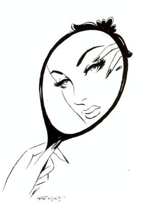 Йлустракионес У Комиксы. Лицо женщины в зеркале