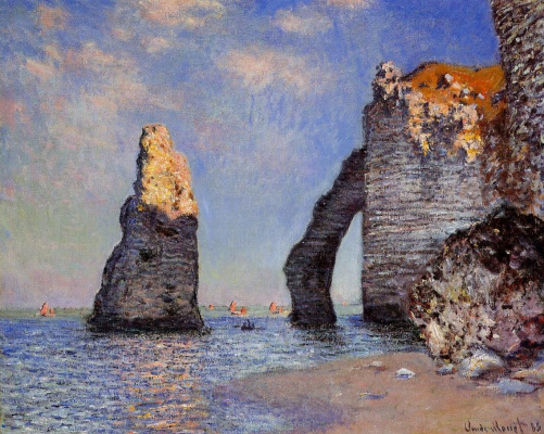 Claude Monet. The rock Needle and the Porte d Aval