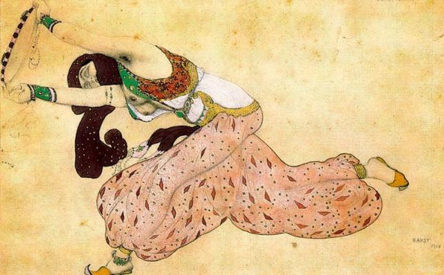"""Lev Samoilovich Bakst (Leon Bakst). Costume design for the ballet """"Scheherazade"""""""