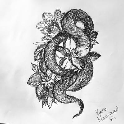 Kaoru Matsumoto. Snake and the Flowers