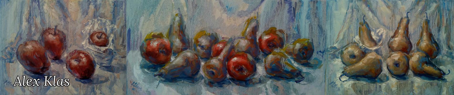 Alex Klas. Pears and Apples - (Triptych)