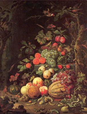Авраам Миньон. Фрукты и ягоды
