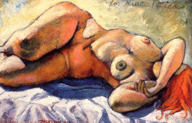 Джим Морфесис. Лежащая женщина